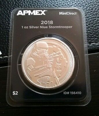 2018 Niue 1 oz Silver Stormtrooper (MintDirect® Single)