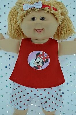 "Play n Wear Doll Clothes To Fit 16"" Cabbage Patch STRAWBERRY PANTS~TOP~HEADBAND"