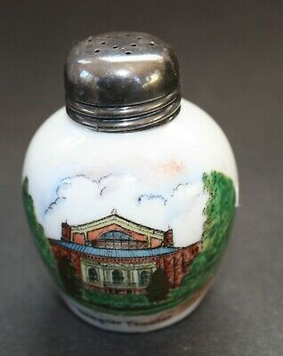 Early China Salt Shaker Commemorating the Wagner Theater - German