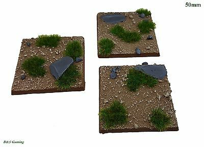 50mm Square Resin Scenic Bases Dirt/Grass Plains Warhammer, wargames Stormfiend