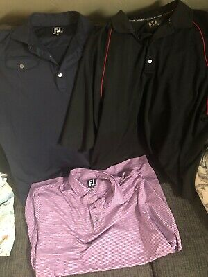 MEIJER MICHIGAN GROCERY Store Uniform Shirt Lot of 2 Black Navy Blue