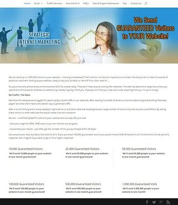 Traffic & Search Engine Submission Website Business For Sale! Mobile Friendly