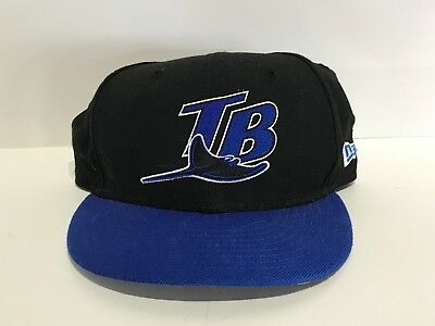 3f021cf4a86 MLB NEW ERA 59Fifty TAMPA BAY Devil Rays Fitted Hat 7 3 8 Black and ...