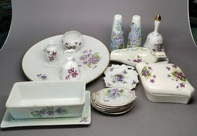 Vintage MIXED LOT Sweet / Spring VIOLETS Violette ROSSETTI Schumann Hand Painted