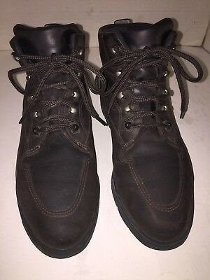 Old School Boks   Reebok Womens 8.5 Oiled Dark Brown Leather Ankle Hiking  Boots 3ffd09ac4