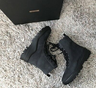 dc5285af Yeezy Season 5 Graphite Nubuck Combat Boot Military Boots Size 43 10 US