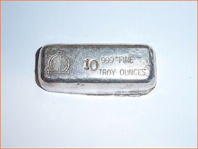 10 oz .999 Silver OMEGA HAND-POURED BAR M&B MINING 3078