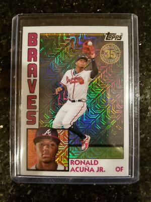 2019 Topps Series 1 Ronald Acuna Jr. Silver Pack Refractor Atlanta Braves