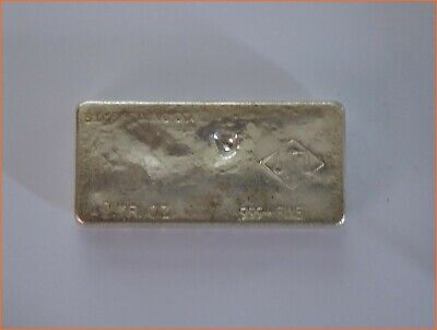 10 OZ Silver .999 VINTAGE HAND POURED BAR SAN DIEGO REFINING ART 3082