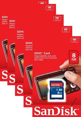 SanDisk SDHC 16GB 32GB SD Memory Card Class 4 Retail Pack