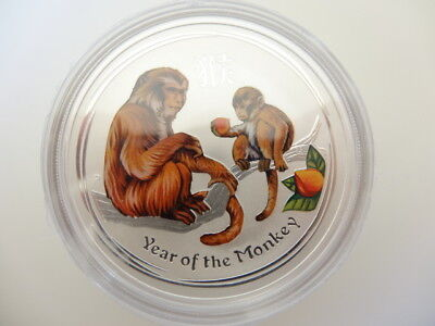 1oz Silver Color Lunar 2016 Monkey Coin Series 2, Low Mintage Perth Mint