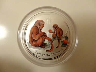 2016 1/2oz 999 Silver Series2 Perth Mint Australia Year of the Monkey Color Coin
