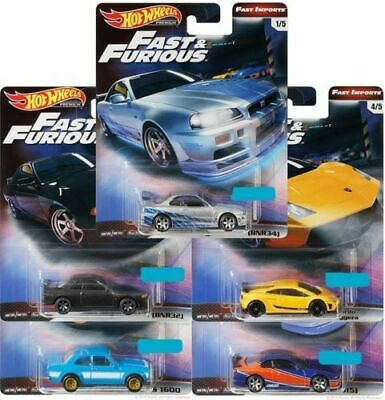 Hot Wheels 2019 Fast & Furious Premium Fast Import Car Case Gbw75-A Pre 5Pcs Q29