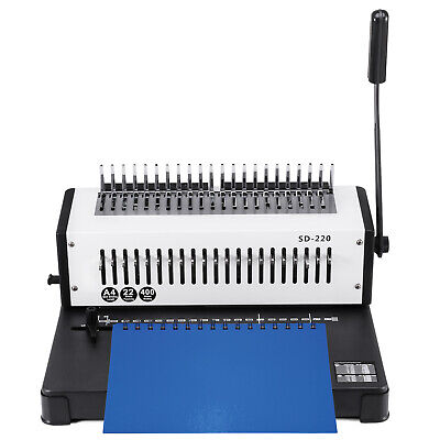 Steel Comb Coil Binding Machine A4 21 Holes Paper Puncher Office Steel Blade