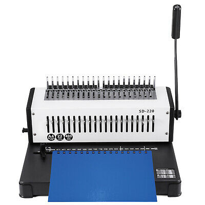 Steel Comb Coil Paper Puncher Binding Machine A4 21 Holes Office Steel Blade