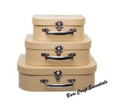 Set of 3 - Suitcase Gift Box Natural