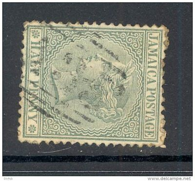 JAMAICA, numeral postmark  A35  on QVictoria stamp (D)