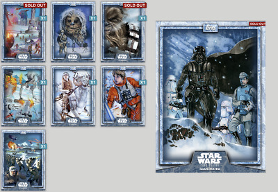 Topps Star Wars Card Trader ILLUSTRATED CTI Hoth Serie - Complete set with award
