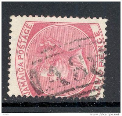 JAMAICA, numeral postmark  A38  on QVictoria stamp (D)