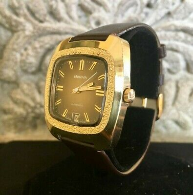 Bulova Collectors Rare 1974 Mans Automatic Winding Swiss Made N4 Vintage Watch