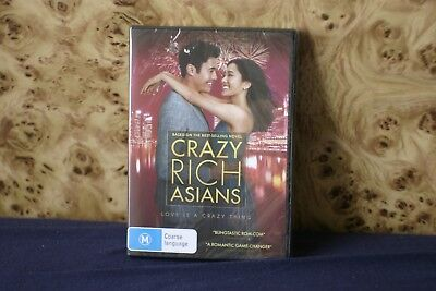 Crazy Rich Asians (2018) DVD Brand New Sealed