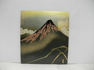 Pure gold, pure silver, metal engraving product. Mt. Fuji. SEISYUU's work