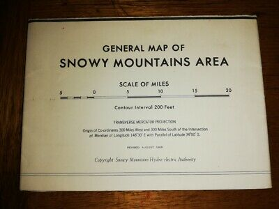 Map of Snowy Mountains Hydro Electric Authority 8th edition 1968