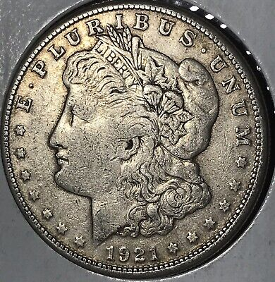 1921-S Morgan Silver Dollar ~ VF TO EXTREMELY FINE Original Historic US Coin