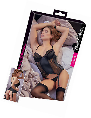 Cottelli Collection Sexy Lingerie for Women Crotchless Body