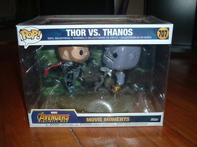 Funko Pop! Thor Vs Thanos #707~ Hot Topic Exclusive~ Near Mint~ Movie Moment