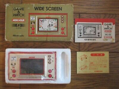 NINTENDO GAME AND & WATCH Mickey Mouse w/ BOX & MANUAL 1981 JAPAN Boxed