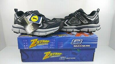1548c414cede Skechers Boys Zstrap Extreme Flex Navy Silver Flexible   Lightweight Size 1