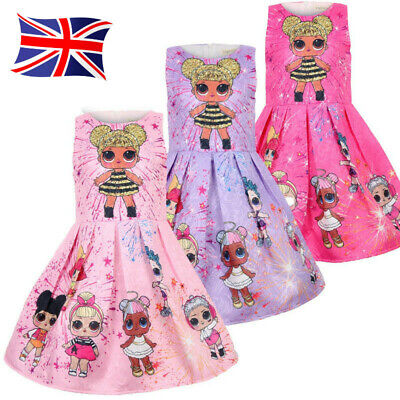 New LOL Girls Lol Surprise Doll Princess Dress Kid Party Holiday Dress UK POST