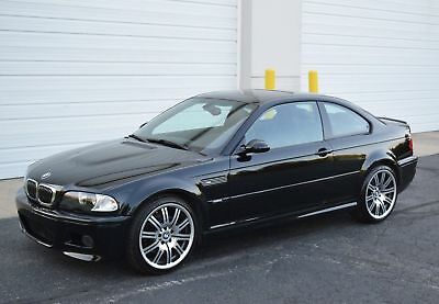 2002 BMW M3 Base Coupe 2-Door 2002 BMW E46 M3 6MT 52K CB/BLACK COLD PREMIUM XENON NAVI H/K 19'S REAR SHADE PDC