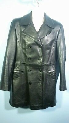 Mens Express Fine Leather Jacket Thick/Soft/Expensive Not a Mark! PRISTINE! Sz M