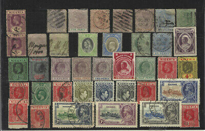 Nigeria (Lagos) 1876-1961 super lot of mint* and used stamps