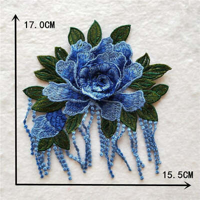 blue applique embroidery clothing Lace Embroidered Venise accessory YL972