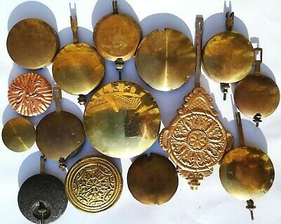 Antique, vintage & replacement clock Bobs, fifteen in all.