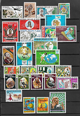 Benin Lot 27 Timbres Annee 1978  Neuf ** Luxe Top Affaire !!!!!!!!!!!!