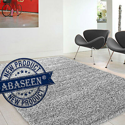 Small And Large Bright Silver Shaggy Rug Bedroom Rugs Plain Soft Floor Carpet