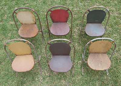 1940s Sebel Children Vintage Chairs x 6 - stak-a-bye - very rare - early legs