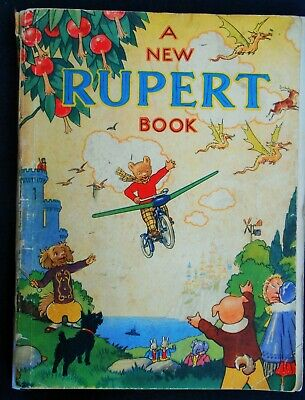 Vintage Original 1945 Rupert Bear Annual, Price Unclipped 3/6