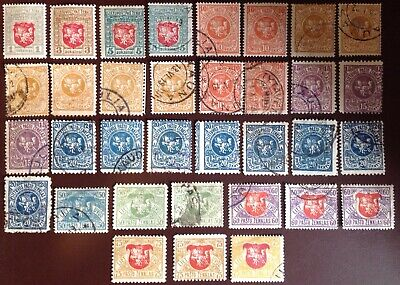 Lithuania 1919 Superb Range of Mint & Used With Varieties