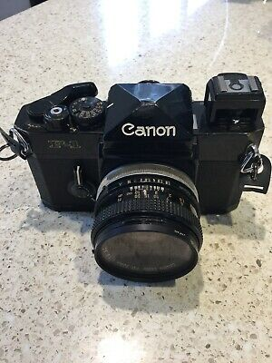 Canon F-1 35mm Camera with FD 50mm 1:1.8 lens 135mm F3.5 200mm F4