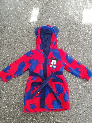 Boys Mickey Mouse Dressing Gown Age 12-18 Months