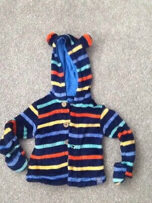 Boys Baby Joules Fleece Jacket Age 9-12 Months