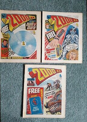 2000ad 1977 First Print Progs 1,2 & 3 (No Free Gifts)