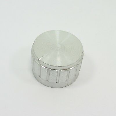 Silver Tone Aluminum Potentiometer Knob 26x17x6mm Dia Hole CD Amplifier Cap T12