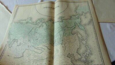 Circa 1850 Large Map Of The Russian Empire Published By George Philip & Son