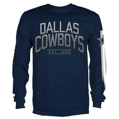 NFL DALLAS COWBOYS Long Sleeve Gray T-Shirt Officially Licensed Mens ... 3410e6a92